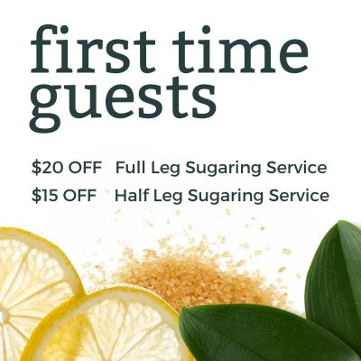 sugaring and waxing studio savannah first time guest offer